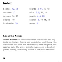 Example of an index page for kids