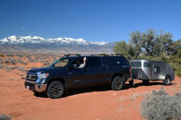 Camping in the Red Sands Henry Mountains