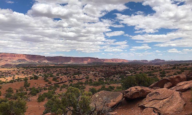 Clouds over redrock